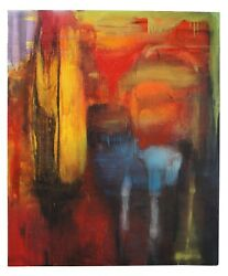 1993 Mary Jones The Evil Of Flowers Abstract Expressionism Oil On Canvas 84