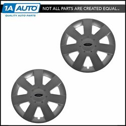 Oem Wheel Hub Cap Pair Lh And Rh Front 16 Inch Silver For Ford Fusion 7e5z-1130-a