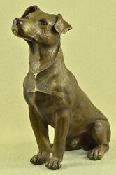 Bronze Sculpture of Jack Russell Terrier Signed Moigniez French Artist Deal Sale
