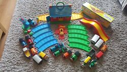 Huge Bundle My First Thomas Golden Bear Trains Track Bridge And Engine Shed