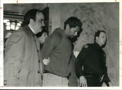 1991 Press Photo Ithaca-david K. Grimes With Officers At Arraignment Hearing