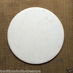 4'x4' White Marble Round Plain Coffee Dining Table Top Home Decor Art Gifts