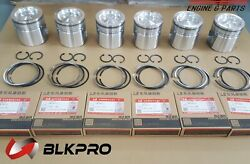 6 Pistons And Piston Ring Set For Isb Qsb 6.7l Cummins 24v Case 49348604955160
