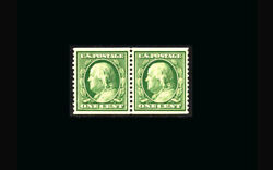 Us Stamp Mint Og And Nh Super B S352 Coil Pair