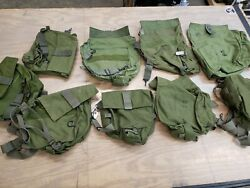 Lot Of 9 Military Surplus Gas Mask Bags Carrier Grade A/b Cond 122398b