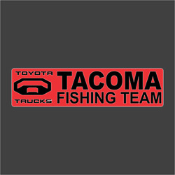 Toyota Tacoma Fishing Team Carpet Graphic Decal Sticker For Fishing Bass Boats