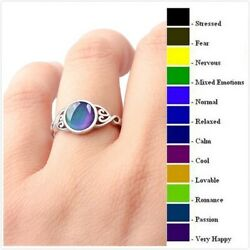 Womenand039s Temperature Color Changing Heart Shaped Mood Ring Creative Ring Jewelry