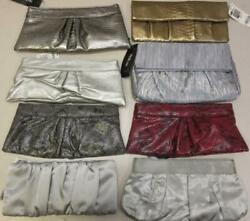 Lot of 8 Assorted Clutch Purses Style amp; Co. Silver Red Gold Clutches $29.99