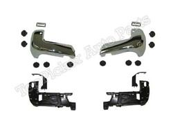 Rear Bumper Chrome End Corner Insert Support Hardware For Tacoma 16-20 W/ Hole