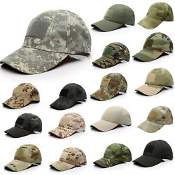 Men Tactical Operator Camo Baseball Hat Military Army Forces Airsoft Caps Brim