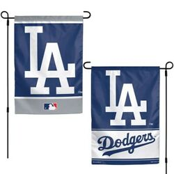 Brand New Mlb Los Angeles Dodgers 2 Sided 12 X 18 Garden Flag Wincraft