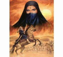 Diamond Painting Desert Woman And War Portrait Design Embroidery Wall Decoration