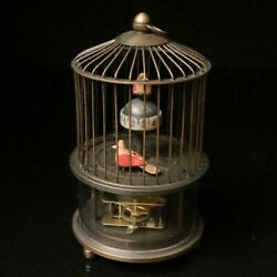 Chinese Exquisite Hand-made Mechanical Brass Birdcage Clock
