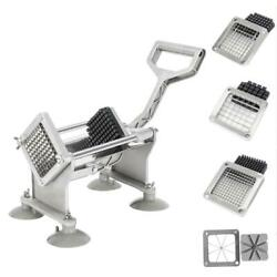 Stainless Steel Potato French Fry Fruit Vegetable Cutter Slicer Cutting 4 Blades $62.95