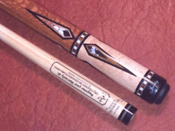 Jacoby Pool Cue With A Jacoby Edge Hybrid Shaft. Wrap-less Cue.