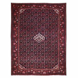 10and0397x14and039 Blue Fish Design Pure Wool Hand Knotted Fine Oriental Rug R49617