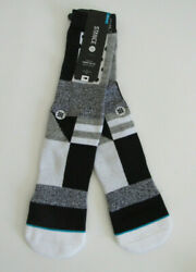 Stance Athletic Combed Cotton Crew Socks Mens LXL NWT Patches Black White Gray