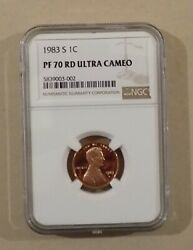 1983 S 1c Lincoln Memorial Cent Penny Ngc Pf70 Rd Ultra Cameo