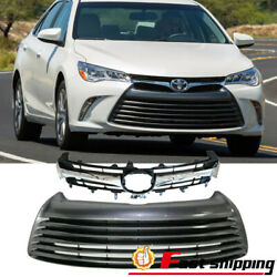 Fits Toyota Camry 2015-2017 Le Xle Front Bumper Upper Grille Lower Grill Set