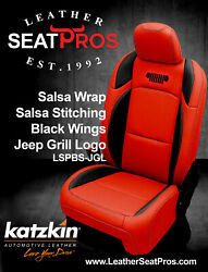 Leather Seat Covers 18-21 Jeep Wrangler Jl Rubicon Sahara Sport S Salsa Grill