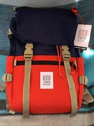 Topo Designs Rover Pack Classic Navyred   Backpack Brand New Msrp.$99.00