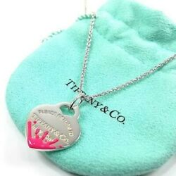 And Co. Return To Heart Splash Pink Necklace Pendant W/porch Dhl