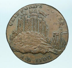 1795 ENGLAND Yorkshire CLIFFORD'S TOWER YORK CASTLE Conder 12 Penny Coin i83903