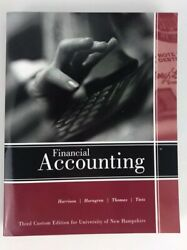 Financial Accounting Third Custom Edition For The University Of Nh Textbook New