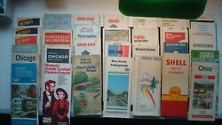 Massive Lot Of 31 Vintage 1950and039s - 1980and039s State - City Road Maps - Fl Mi Ny La