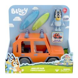 Bluey Heeler 4wd Family Vehicle Playset With Bandit Figurine Toy Car