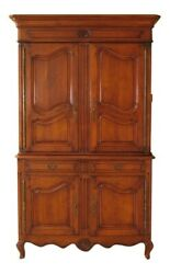 30065ec Large Cherry French Provincial Style Linen Press Cupboard