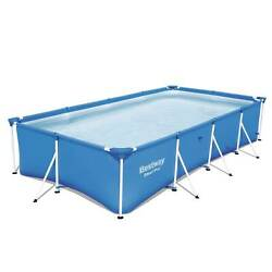 Bestway Steel Pro 13and039 X 7and039 X 32 Rectangular Frame Above Ground Swimming Pool