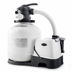 Intex 16 Inch 2,150 Gph Krystal Clear Saltwater System And Sand Filter Pump, Gray