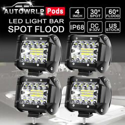 4x Spreader Led Marine Navigation Deck/mask Lights Pods Spot Lights Boat 12v 24v