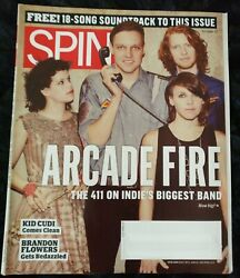 Spin Magazine October 2010 Arcade Fire Cover