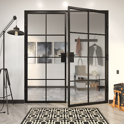 French Door - Steel Frame 48 X 80 By Crystalia Glass