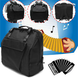 Black Thick Padded Accordion Gig Bag Case Backpack For 120 Bass Piano