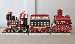 Waterford Holiday Heirlooms Christmas Candy Jar Train Tabletop Decor Centerpiece