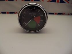 R22 - Genuine Smiths Large Green Spot Rev Counter/tacho Tachometer - Recondition