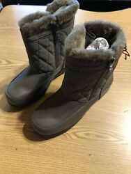 Totes Winter Boots Womens 6 Brown Fur s shoe 136 $14.98