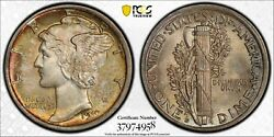 1919 D Mercury Winged Liberty Head Dime Old Silver Collector Pcgs Ms 64 Fb
