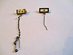 Wwii Sweetheart Son In Service Pins With Hanger 2 Pieces