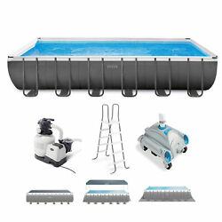 Intex Ultra Xtr 24ft X 12ft X 52in Rectangular Frame Pool And Sand Vacuum Cleaner