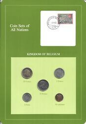 Coins Of All Nations - Belgium - 5 Coin Set - 1977-1983 -  Coan 59