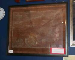 Chart, Etching, Copper, Us Navy Hydrographic Service