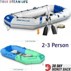 Fishing Kayak Boat Inflatable Kayak 2 3 Person Set High Pressure With Air Pump