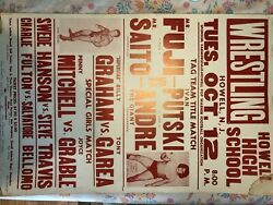 Wwf Vintage Event Poster 1982 Andre The Giant