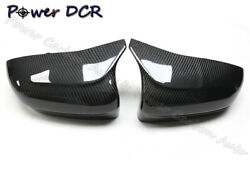 Dry Carbon Fiber Rear View Mirror Cover For Bmw F90 M5 Full Carbon House Cap 18+