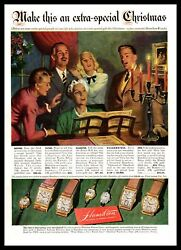 1947 Hamilton Watch Company Make This An Extra Special Christmas Print Ad