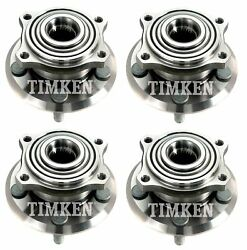 Front And Rear Wheel Bearing And Hub Assembly Kit Timken For 300 Charger Awd 2009